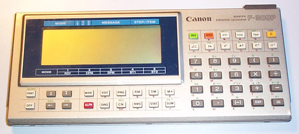 Scientific programmable calculator: Canon F-300P