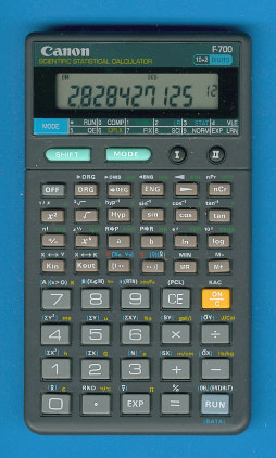 Scientific programmable calculator: Canon F-700