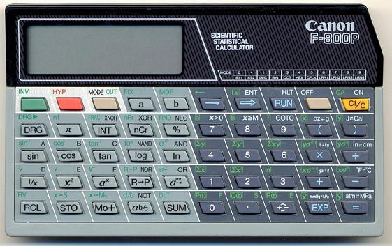 Scientific programmable calculator: Canon F-800P