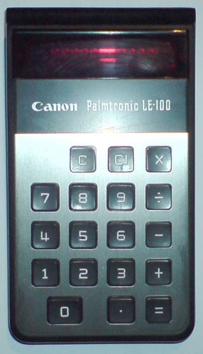 Calculator (non-programmable): Canon Palmtronic LE-100