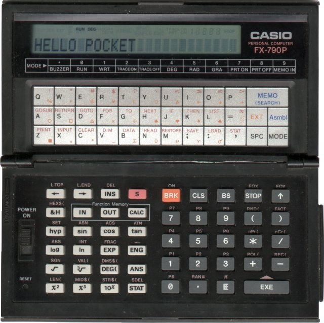 BASIC programmable calculator: Casio AX-3