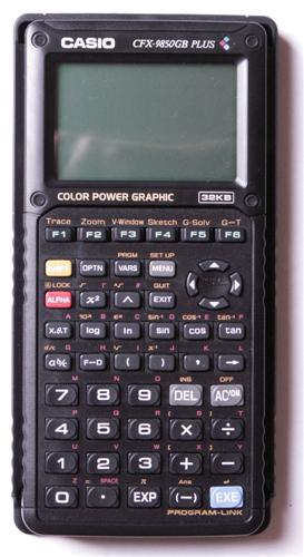 Graphing calculator: Casio CFX-9850GB PLUS