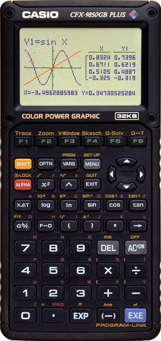 Graphing calculator: Casio CFX-9950G