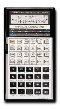 Casio fc 200v fc200v 100v financial calculator 14 digits, dual.