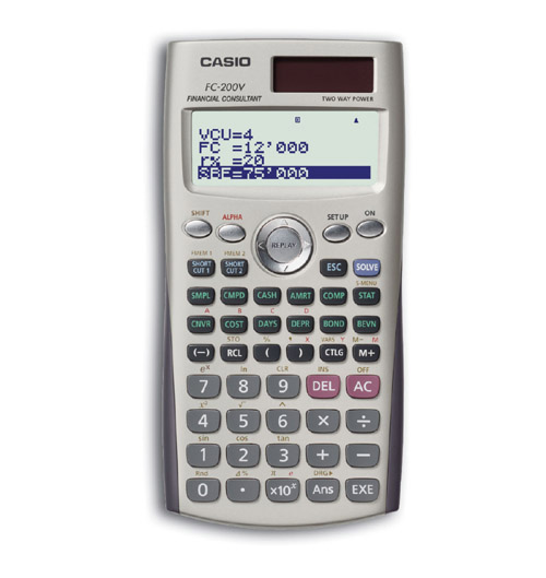 Financial programmable calculator: Casio FC-200V