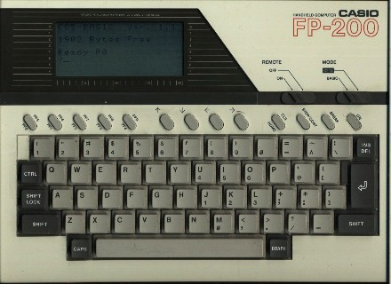 BASIC programmable calculator: Casio FP-200