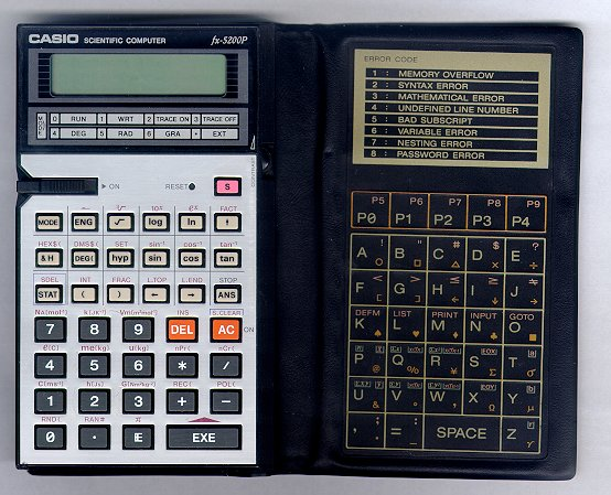 BASIC programmable calculator: Casio fx-5200P