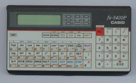 BASIC programmable calculator: Casio fx-5400P
