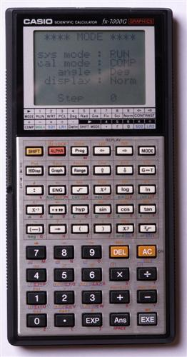 Graphing calculator: Casio fx-7000G