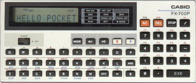 BASIC programmable calculator: Casio FX-700P