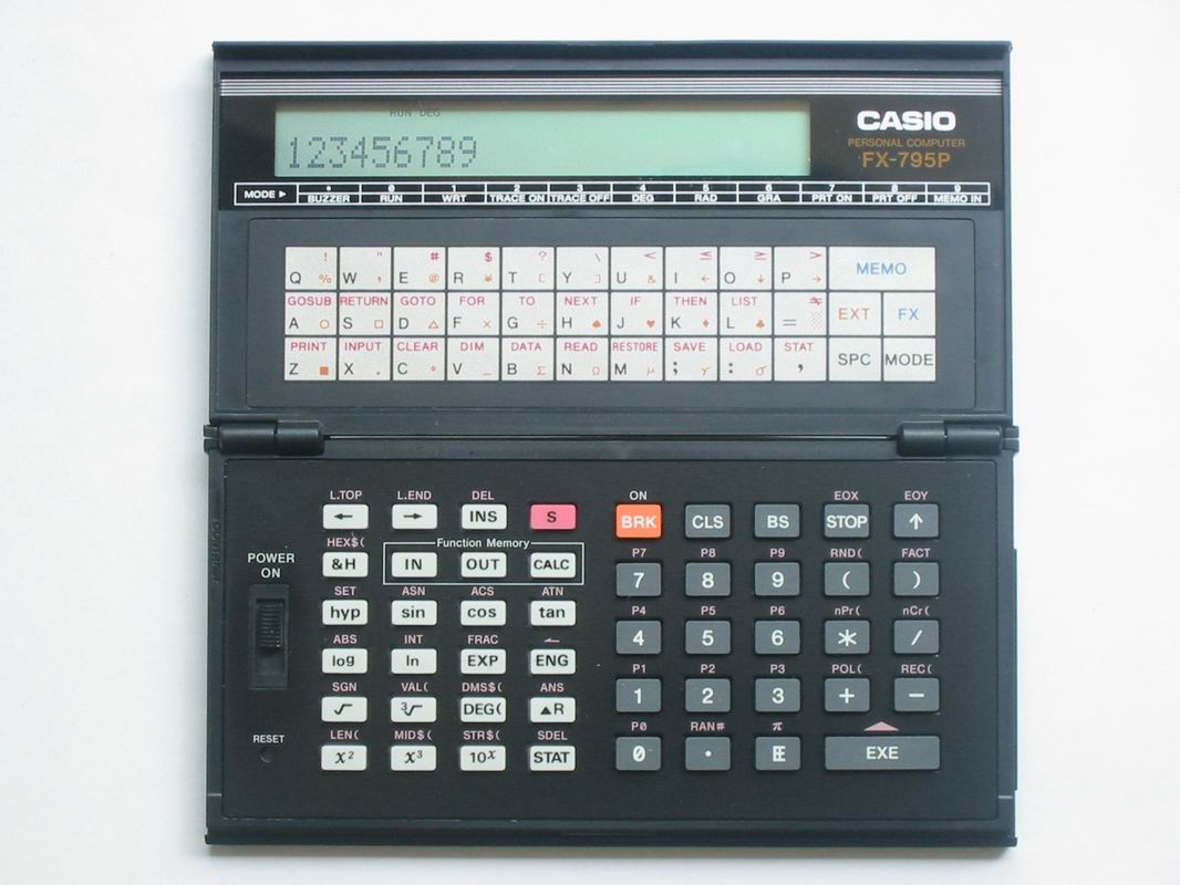 BASIC programmable calculator: Casio FX-795P