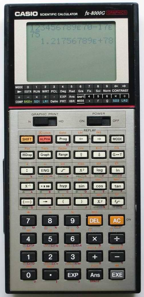 Graphing calculator: Casio fx-8000G