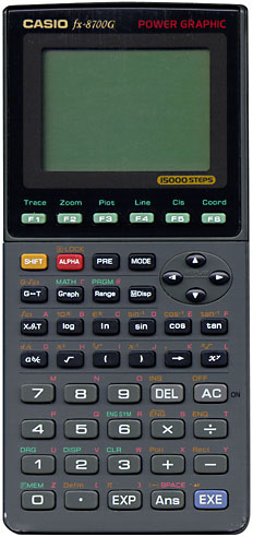 Graphing calculator: Casio fx-8700G