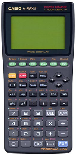 Graphing calculator: Casio fx-9700GE