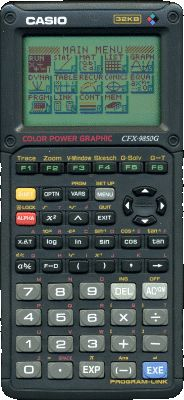 Graphing calculator: Casio fx-9850G