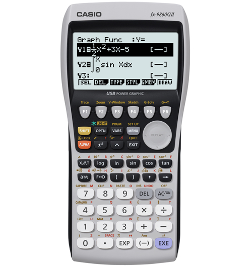 Graphing calculator: Casio fx-9860GII