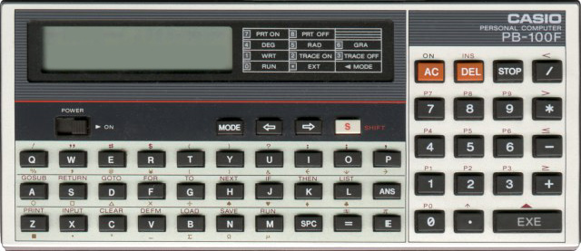 BASIC programmable calculator: Casio PB-100F