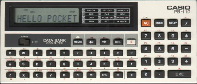 BASIC programmable calculator: Casio PB-110