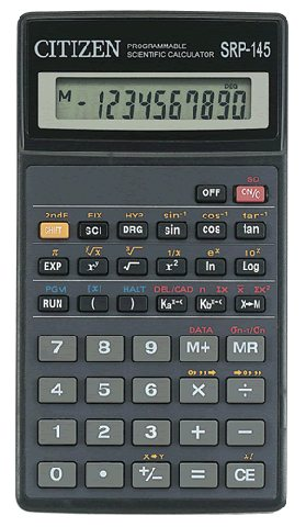 Scientific programmable calculator: Citizen SRP-145T