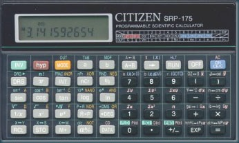 Scientific programmable calculator: Citizen SRP-175