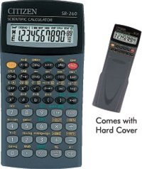Scientific programmable calculator: Citizen SRP-260