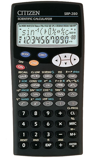 Scientific programmable calculator: Citizen SRP-280