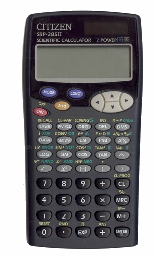 Scientific programmable calculator: Citizen SRP-285II