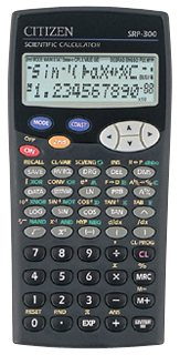 Scientific programmable calculator: Citizen SRP-300