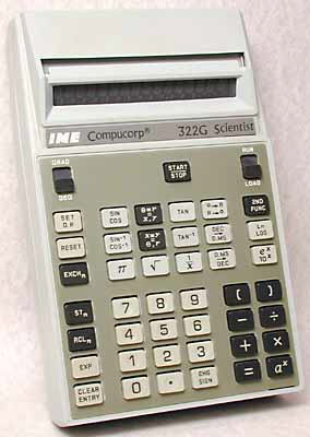 Scientific programmable calculator: Compucorp 322G Scientist
