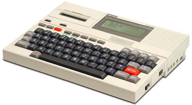 BASIC programmable calculator: Epson HX-20