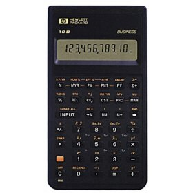 Financial programmable calculator: Hewlett-Packard HP-10B