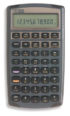 Financial programmable calculator: Hewlett-Packard HP-10BII