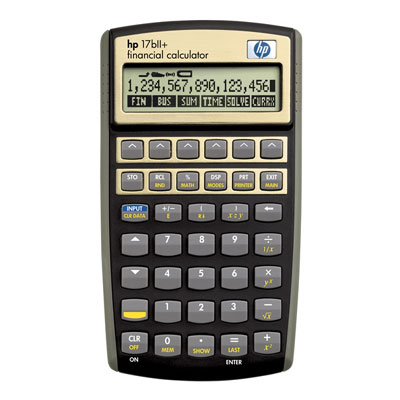 Financial programmable calculator: Hewlett-Packard HP-17BII+