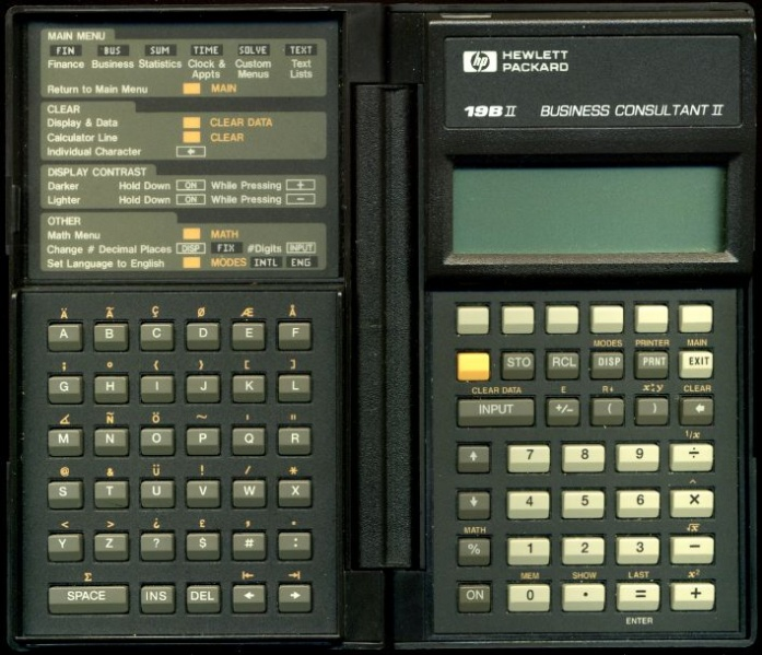 Financial programmable calculator: Hewlett-Packard HP-19BII