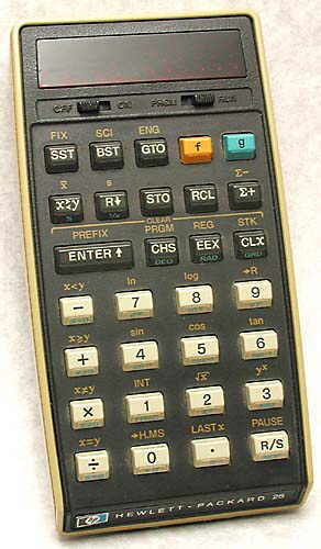 Scientific programmable calculator: Hewlett-Packard HP-25