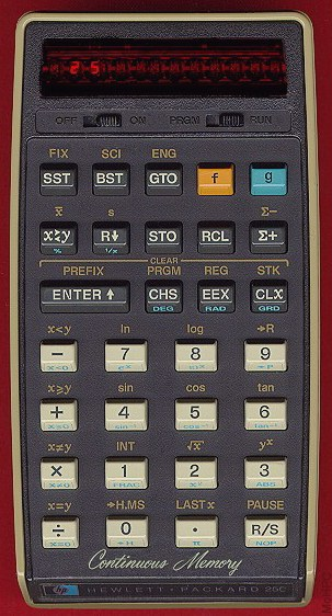 Scientific programmable calculator: Hewlett-Packard HP-25C