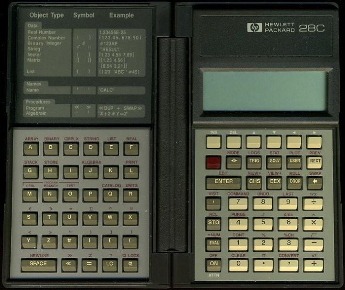 Scientific programmable calculator: Hewlett-Packard HP-28C