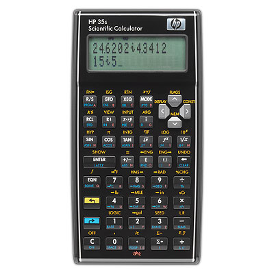 Scientific programmable calculator: Hewlett-Packard HP-35S