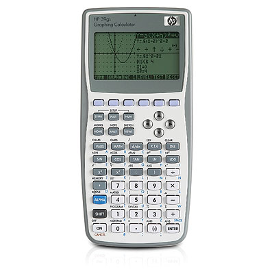 Graphing calculator: Hewlett-Packard HP-39gs