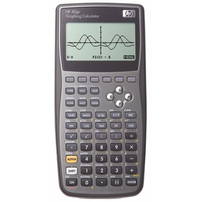Graphing calculator: Hewlett-Packard HP-40gs