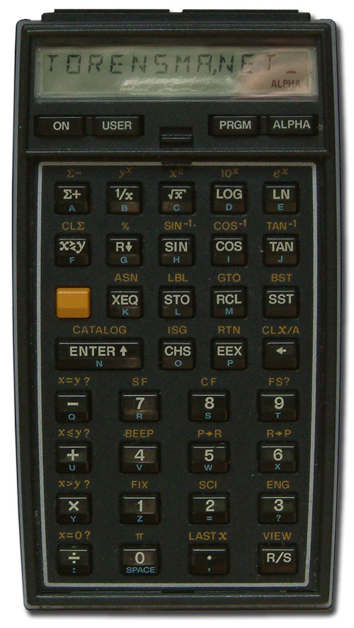 Scientific programmable calculator: Hewlett-Packard HP-41C
