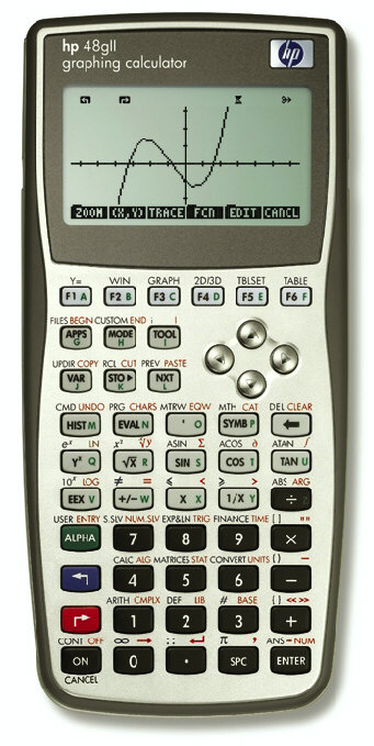 Graphing calculator: Hewlett-Packard HP-48GII