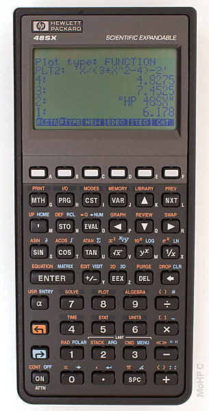 Graphing calculator: Hewlett-Packard HP-48SX