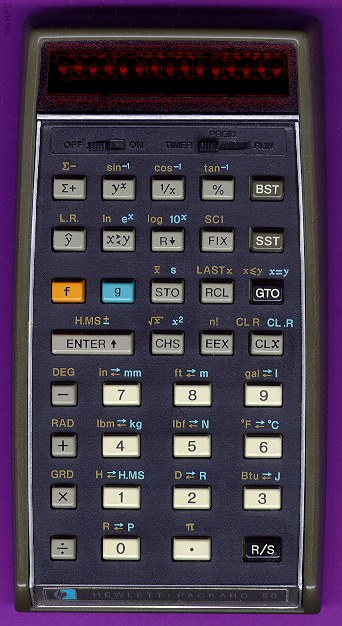 Scientific programmable calculator: Hewlett-Packard HP-55