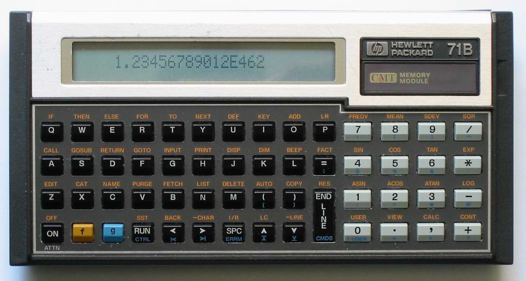 BASIC programmable calculator: Hewlett-Packard HP-71B