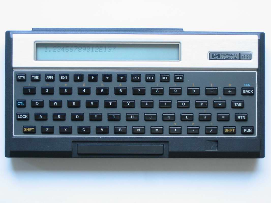 BASIC programmable calculator: Hewlett-Packard HP-75C