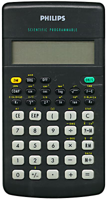 Scientific programmable calculator: Phillips SBC-1709