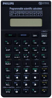 Scientific programmable calculator: Phillips SBC-1745N
