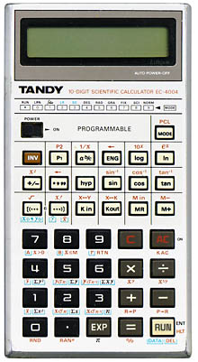 Scientific programmable calculator: Radio Shack EC-4004
