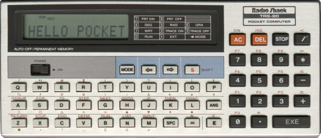 BASIC programmable calculator: Radio Shack PC-4